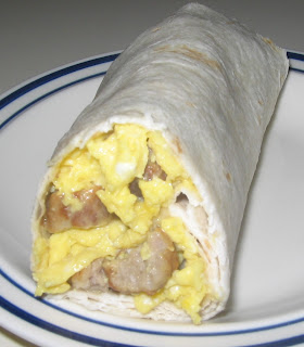 Sausage, Eggs & Cheese Burrito