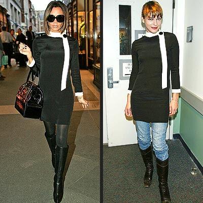 victoria beckham too thin. dress too!