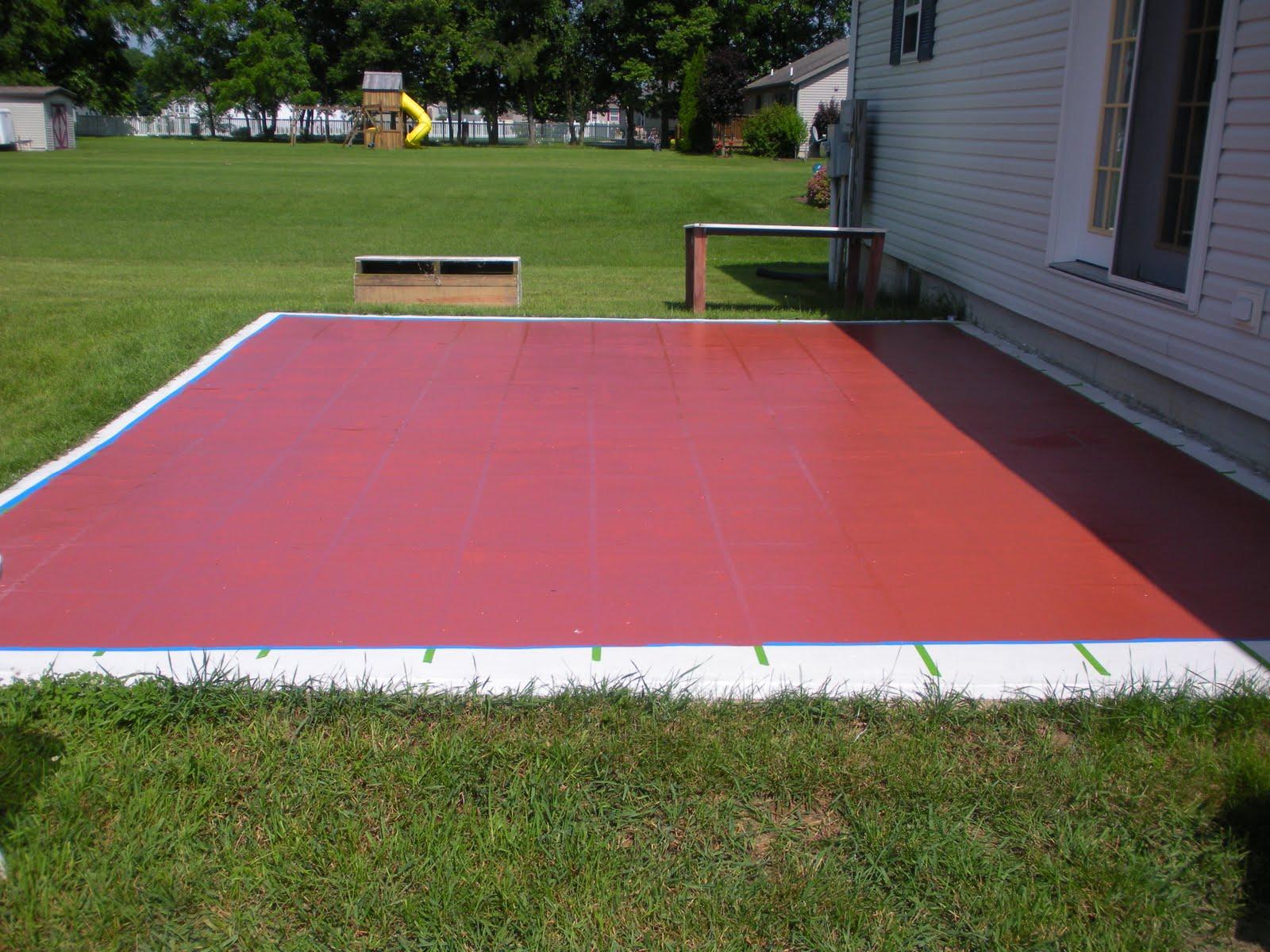Concrete Patio Paint Colors Ideas