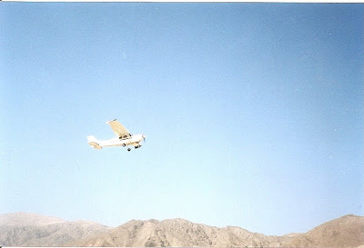 Cessna small plane over Nazca lines