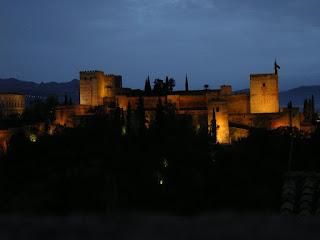 Imagini Spania: Alhambra Granada, noaptea