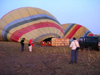Imagini zbor cu balonul in Africa