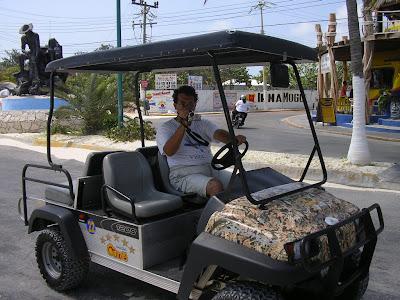 Masinuta de golf in Isla Mujeres Mexic