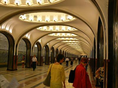 Obiective turistice Rusia: metro Moscova