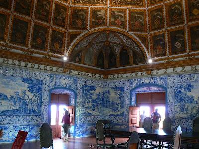 Obiective turistice Sintra: camera blazoanelor Palacio Nacional