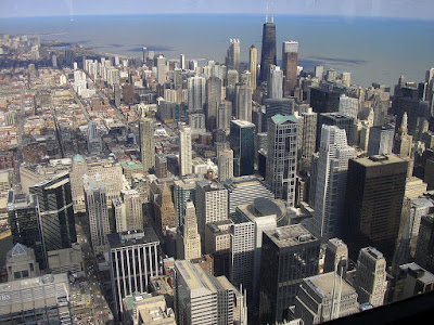 Imagini SUA: Chicago vazut din Sears Tower