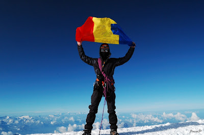 Imagini Franta: Iulian Sirbu pe Mont Blanc