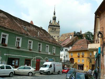 Imagini Romania: spre Turnul cu Ceas Sighisoara
