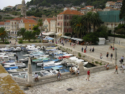 Imagini Croatia: portul Hvar