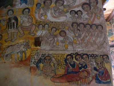 Imagini Etiopia: picturi murale la Abraha Atsbeha Tigray