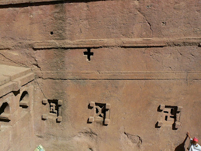 Obiective turistice Etiopia: Bet Maryam Lalibela zvastici pe ferestre