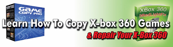 How to copy x-box 360 games and repair your x-box 360