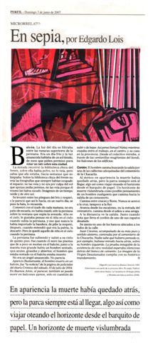En sepia en Diario Perfil