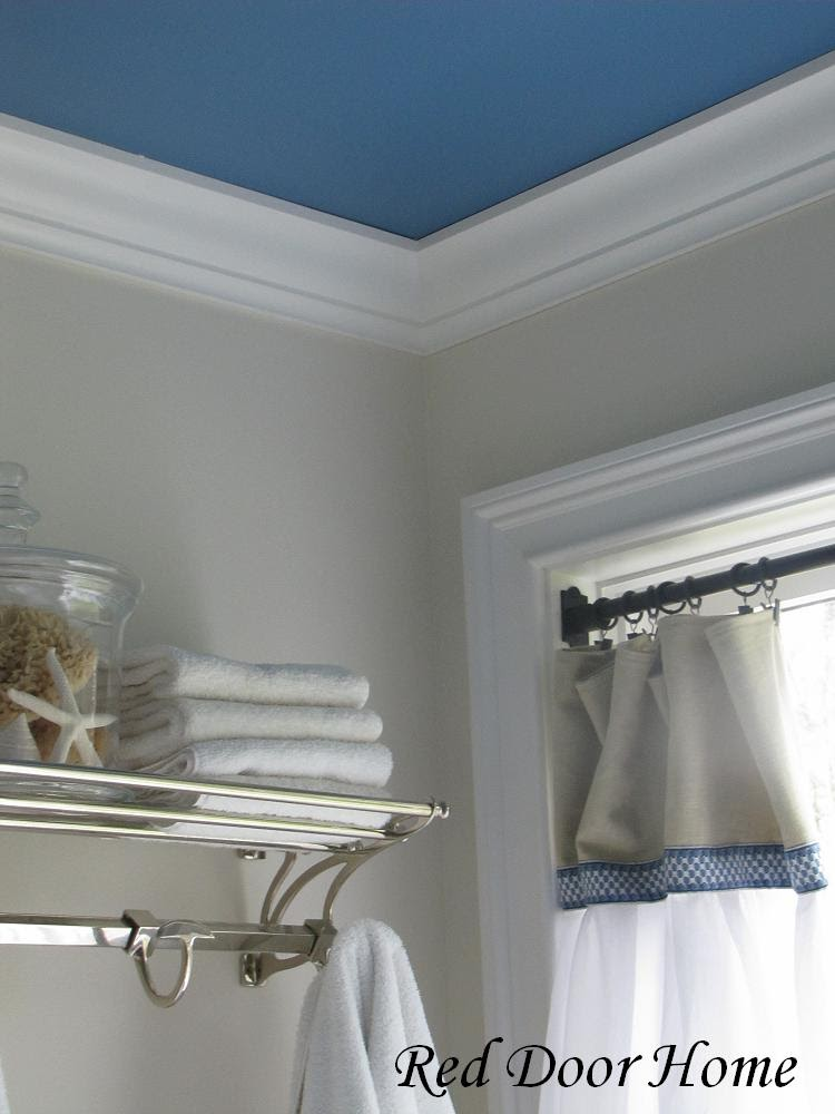 Red door home april 2010 for Best paint finish for bathroom ceiling