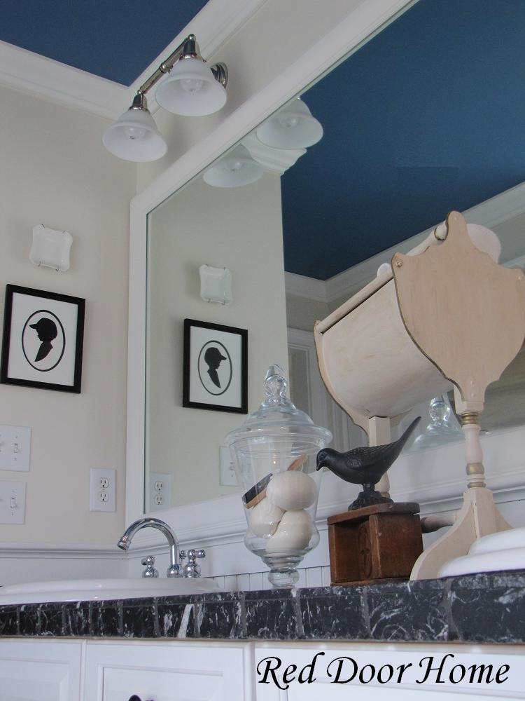 Remodelaholic add character to your ceilings for Best paint finish for bathroom ceiling