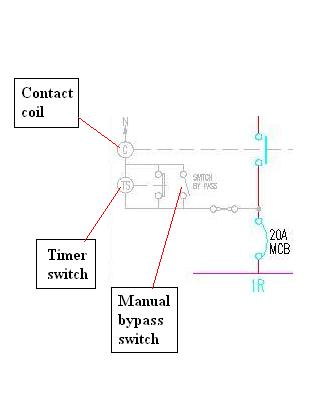 diagram 2 – timer switch circuit