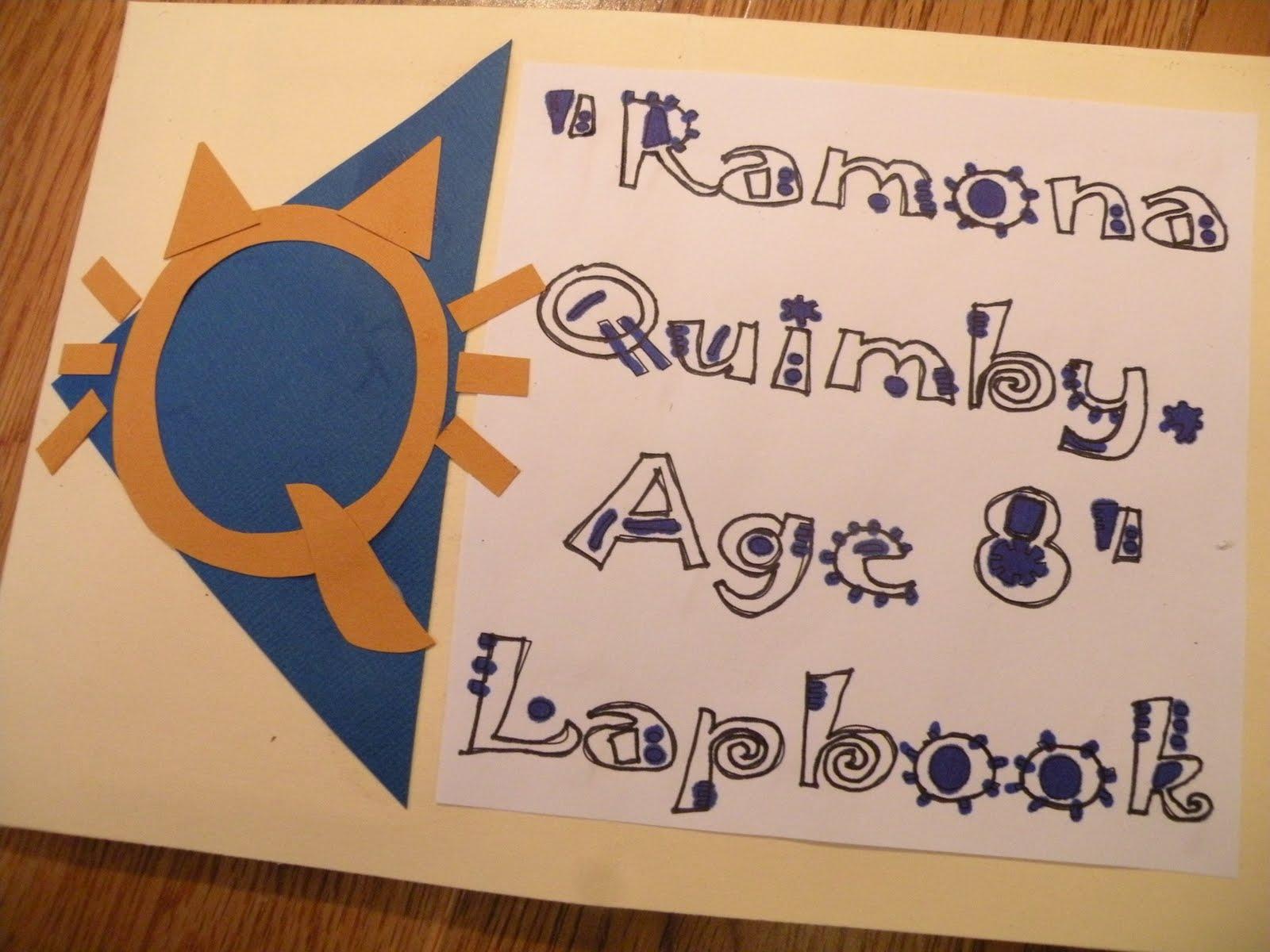 The Fantastic Five Ramona Quimby Age 8 Lapbook