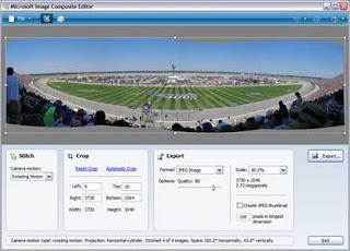 Microsoft ICE editor foto panorâmica