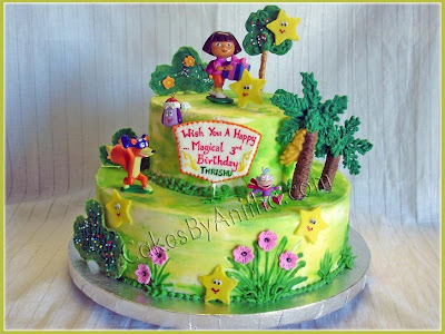 First Birthday Cakes Bandung Jakarta Online Cakes Shopdora Explorer Birthday Cake