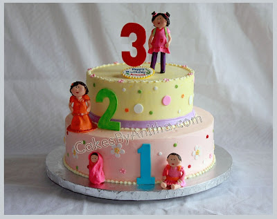 This Cake Was Made For A 3 Year Old Girl Showing The Different Transitions In Her Growing Years Each Figure Represents To Something She Did At That Stage