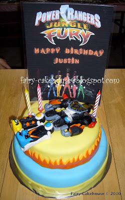 Fairy Cakehouse Power Ranger Jungle Fury Cake