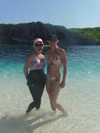 Me and Fran at the blue hole