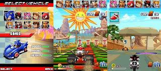 Sonic and SEGA all - Star racing |free jar, java game download, 3d