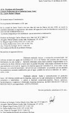 Informe al Consejo Deliberante