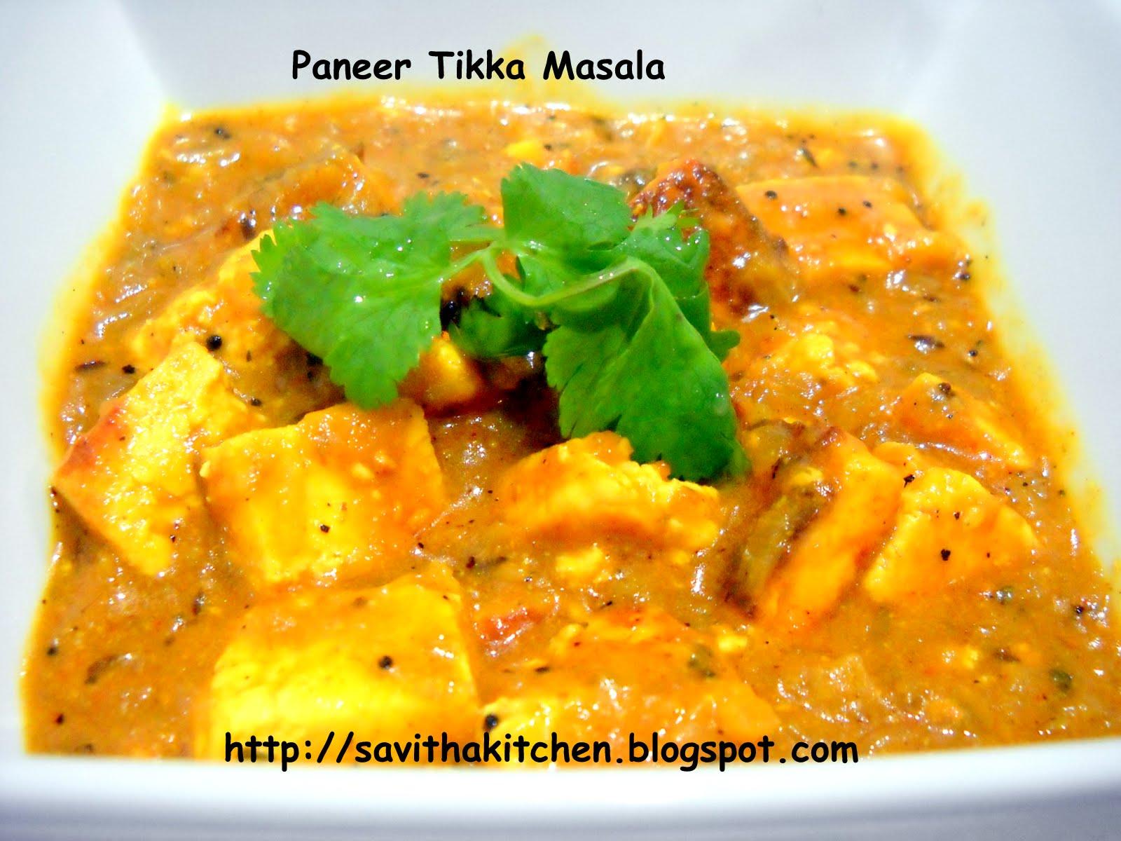 Savitha's Kitchen: Paneer Tikka Masala