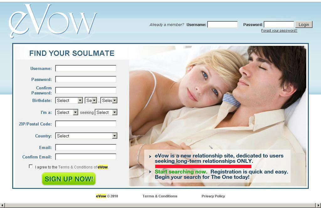 Evow online dating sign in