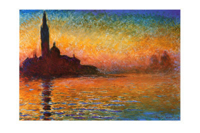 Claude Monet - Sunset in Venice