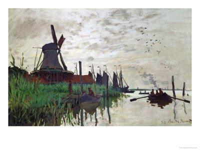 Claude Monet - 1871 - Windmill at Zaandam Netherlands