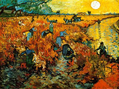 Van Gogh - Der rote Weingarten in Arles (1888)