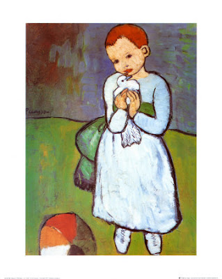 Pablo Picasso - Child with a Dove (1901)