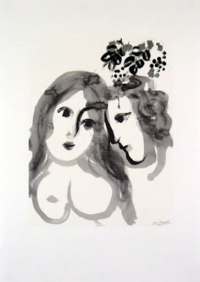 Marc Chagall - Amoureux (1956)
