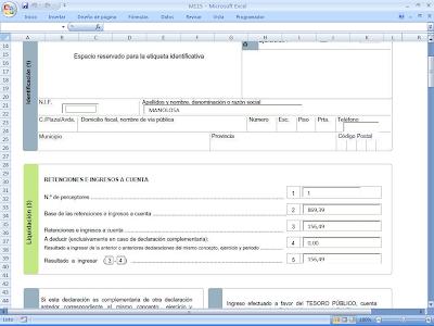 Cosas de programaci n y de gesti n empresarial excel para crear el fichero del modelo 115 de la - Aeat oficina virtual ...
