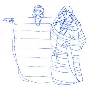 El traje típico del indígena wayuu en la mujer es la manta guajira. Su cuello puede ser cuadrado, en escote en \u201cV\u201d y ovalado en la cintura.