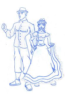 Antes los guanes, hombres y mujeres, vestían con mantas de hilo de algodón. Una manta la ceñían a la cintura y otra pendía del hombro izquierdo y allí mismo