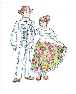 El pueblo llanero se viste con una ropa para trabajar, como en todos los lugares, dependiendo de su condición económica.