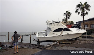 Damage caused by Hurricane Dolly in South Padre Island, Texas