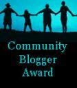 Community Blogger Award from Mary