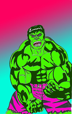 The Cool Kids Table: Earth's Mightiest Sketch Blog Extra: GREEN Hulk