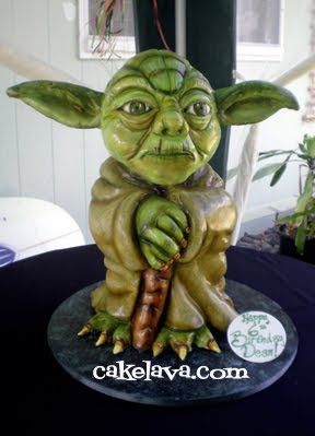 Cakelava Yoda Cake
