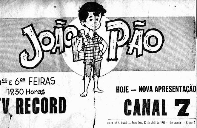 """Ivan José - caricatura em anúncio do """"João Pão"""""""