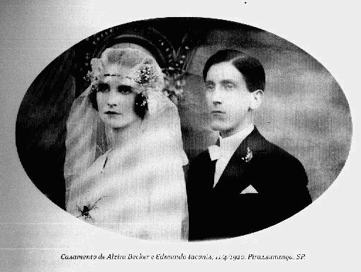 casamento de alzira becker e edmundo yáconis - 11.04.1920 - pirassununga - sp