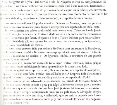 carta da nydia no livro do rofran fernandes