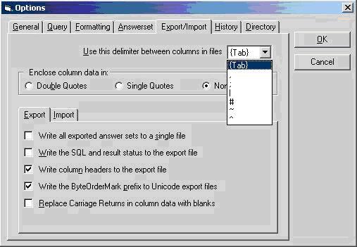 Teradata Help: Export /Import using Teradata SQL assistant
