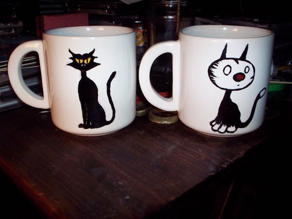 Tazas de café esmaltadas...