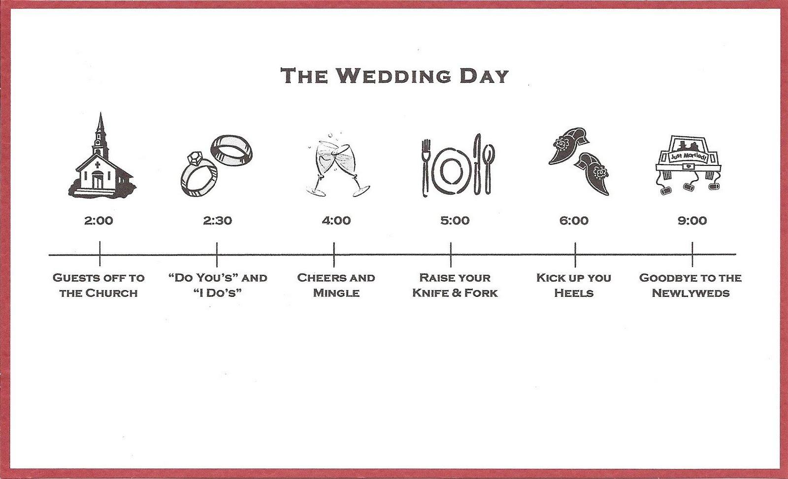 bicoastal bride wedding invitations fun timeline inserts