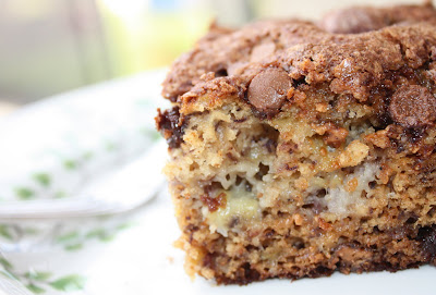 Peanut Butter and Chocolate Chip Banana Cake